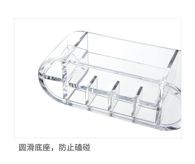【八八八】e網購~【橢圓韓式透明化妝品收納盒LA396】NO135桌面整理盒化妝盒首飾口紅收納盒 2