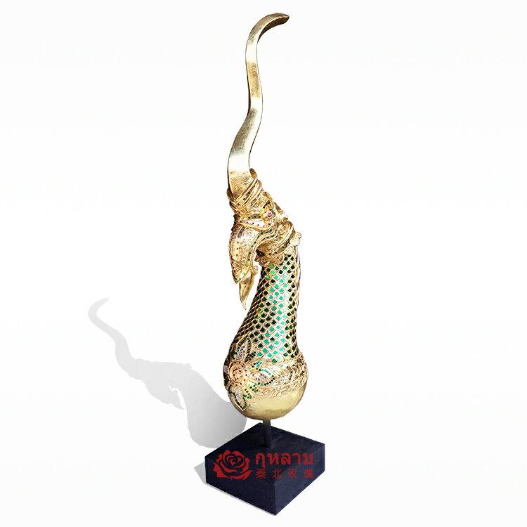 泰國工藝品木雕龍鳳角圖騰擺件東南亞家居裝飾品創意客廳開業禮品1入