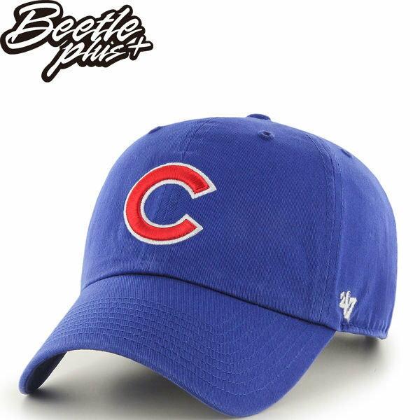BEETLE 47 BRAND 老帽 芝加哥小熊 CHICAGO CUBS DAD 職棒 大聯盟 MLB 藍 紅字 MN-409 0