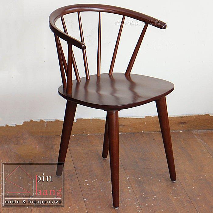 【尚品傢俱】799-10 賽勒 橡木實木扶手椅/居家小椅子/家庭休閒椅/客廳休憩椅/經典餐椅/咖啡椅/舒適樂活椅