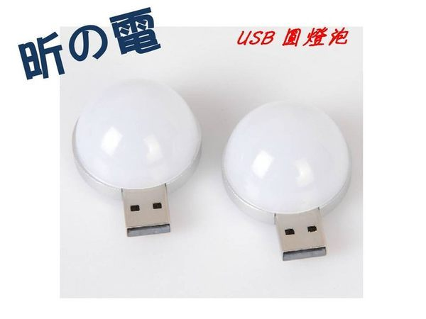 NOVA成功3C  圓燈泡USB燈 帶柔光罩 閱讀 露營床頭 LED 小夜燈移動電源伴侶