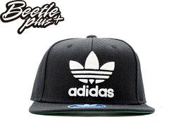 超熱賣BEETLE ADIDAS ORIGINALS 經典 LOGO 黑白 後扣棒球帽 貝克漢 SNAPBACK S48638 NT-157