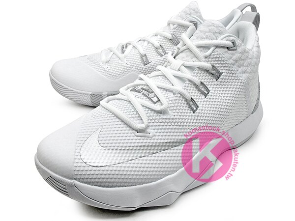 2016年 NBA LeBRON JAMES 子系列代言鞋款 戶外專用鞋款 NIKE AMBASSADOR IX 9 全白 銀灰白 大使 HYPERFUSE + FLYWIRE 鞋面科技 前 後 ZOOM AIR 氣墊 (852413-100) 1216 1