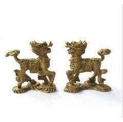 黃銅工藝品 小麒麟