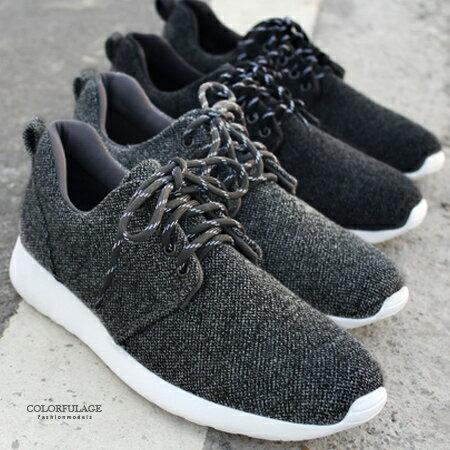 男鞋 低調純色素面慢跑鞋休閒鞋 舒適好穿 防臭鞋墊 柒彩年代~NR24~MIT