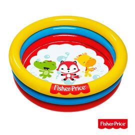 【Fisher-Price 費雪】三環充氣遊戲池、水池兩用/附25顆球/93501-(69-34458)