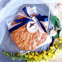 分享幸福的婚禮小物推薦喜糖_餅乾_伴手禮_糕點推薦【Ricordoz從前‧以後】緞帶精緻 ♥ 婚禮小物 ★ 焦糖瓦片 ★ (5片/包)