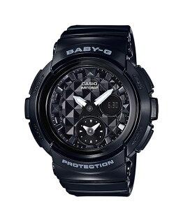 CASIOBABY-GBGA-195-1A立體鉚釘雙顯流行腕錶44.3mm