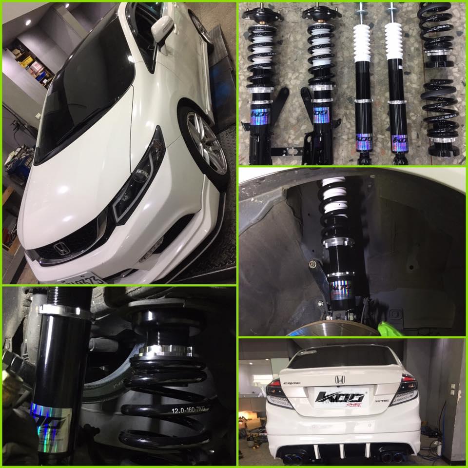 HONDA 喜美 Civic 9.5代 專用 KOO sport 高性能可調式避震器 (運動版)
