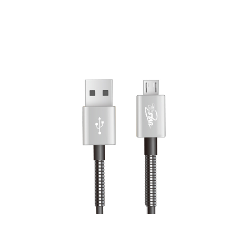 【貝殼】 T.C.STAR Micro USB 鋁合彈簧TPE 1M 高速充電傳輸線 (TCW-U1100)