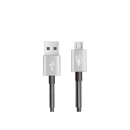 Micro USB 鋁合金彈簧TPE 1M 高速充電傳輸線 T.C.STAR (TCW-U1100)