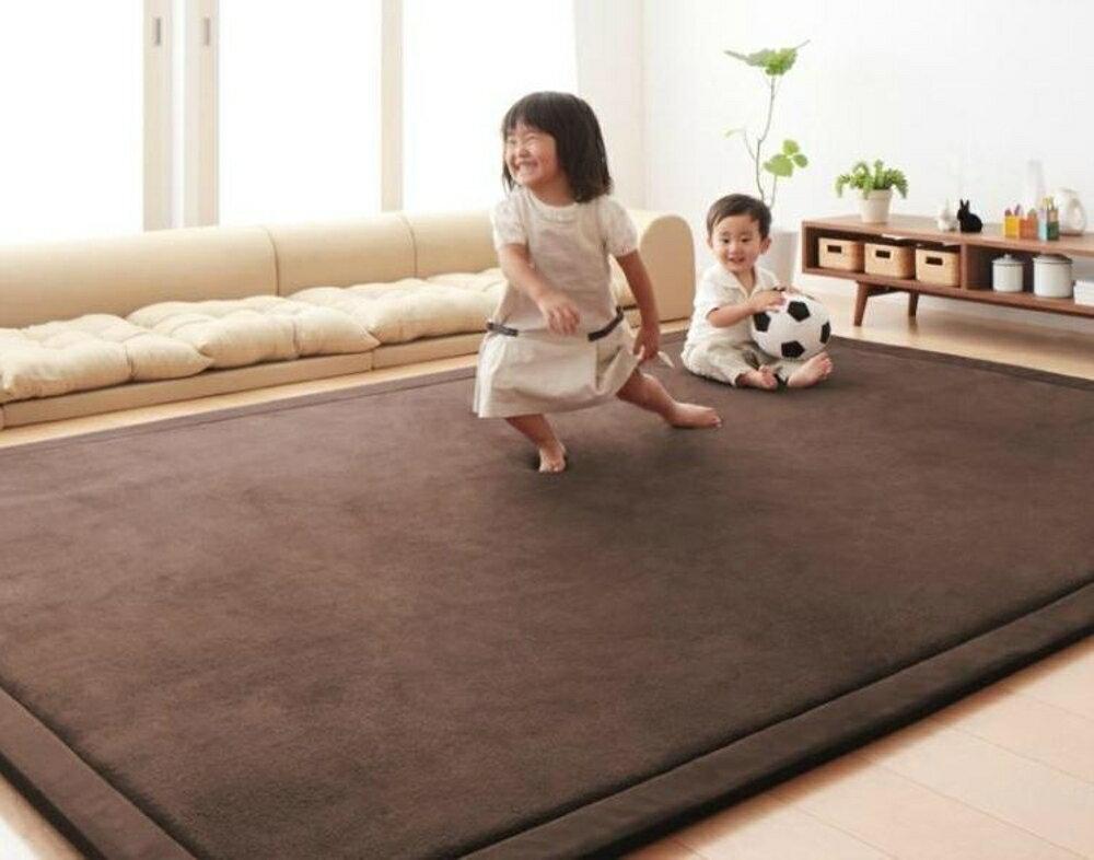 地毯 榻榻米地墊珊瑚絨臥室客廳加厚 飄窗墊床邊毯兒童寶寶爬行墊80*200公分 免運直出 母親節禮物