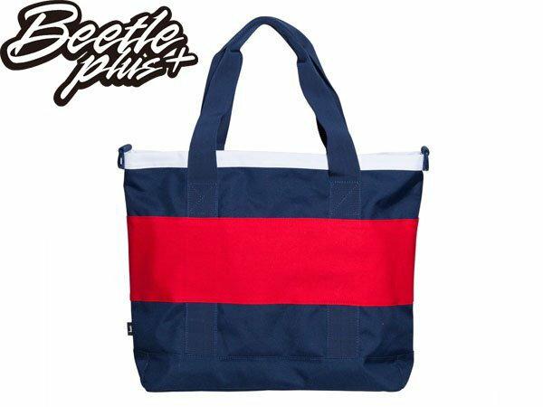 BEETLE STUSSY X HERSCHEL LOGO TOTE BAG  藍紅 白紅 雙色 街頭 潮流 斜背 手提包 托特包 1