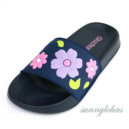 SKECHERS(童)女童系列拖鞋SUNNYSLIDES-86918LNVMT藍色花朵[陽光樂活]