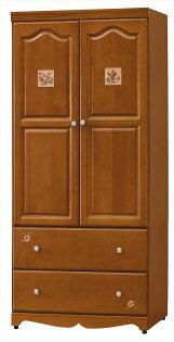 【石川家居】YE-A241-06愛麗絲磁磚彩繪3*6尺衣櫥(不含其他商品)台北到高雄搭配車趟免運