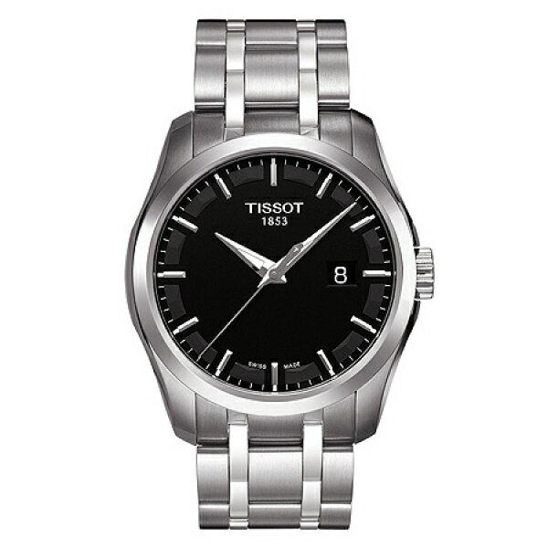 TISSOT天梭T0354101105100 建構師經典日曆腕錶/黑面39mm