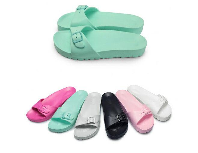 【My style】富發牌1HC01女鞋,輕量防水拖鞋(黑.白.桃.綠.粉.灰)S/M/L/XL號-任兩雙免運