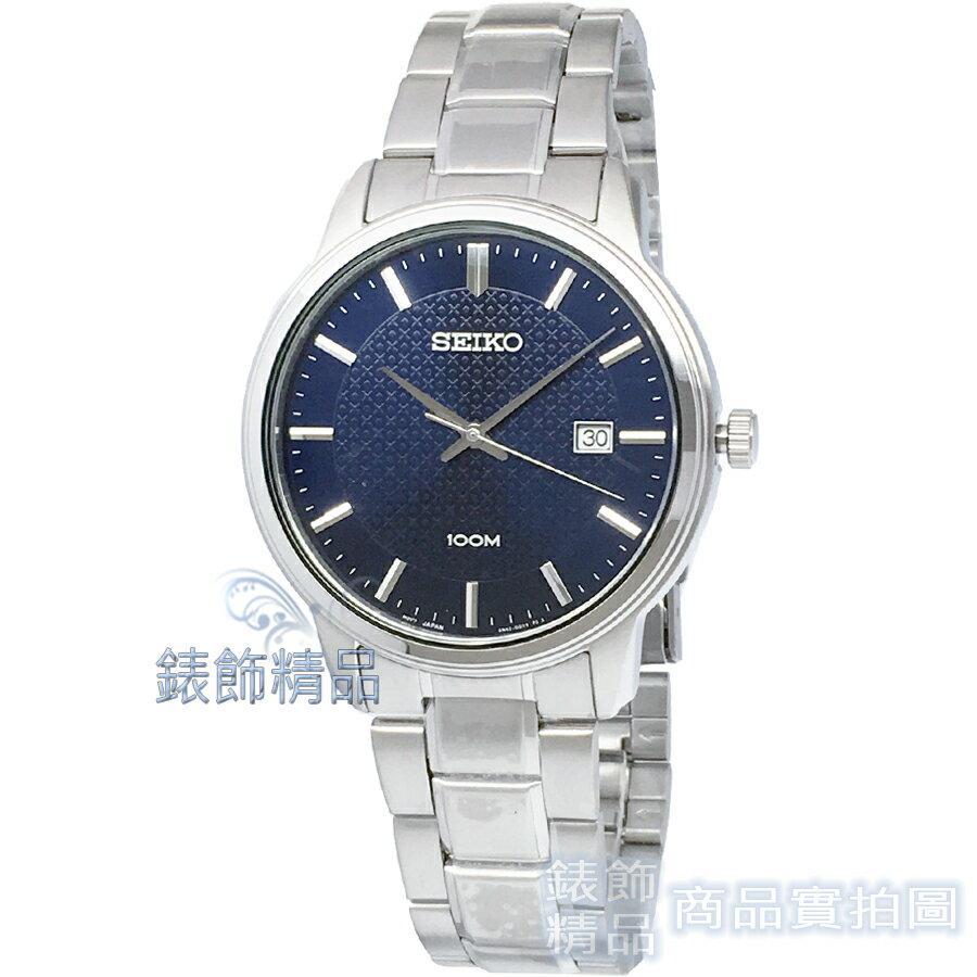 【錶飾精品】SEIKO手錶 SUR193P1 精工表 藍 日期男錶 全新原廠正品 情人生日禮物