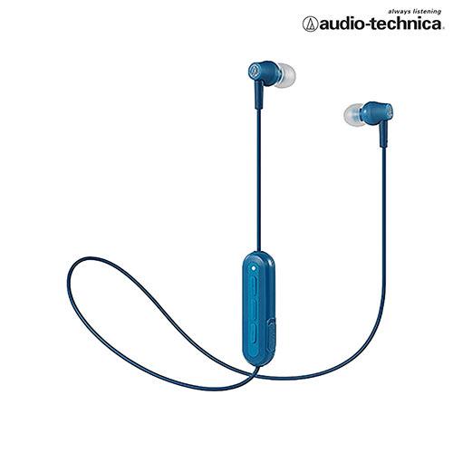 鐵三角 無線耳機麥克風ATH-CK150BT-藍【愛買】
