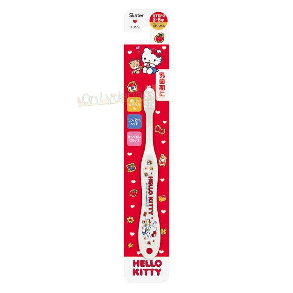 【真愛日本】4973307452444 幼兒牙刷3~5歲-KT餅乾白 凱蒂貓kitty 幼兒牙刷 牙刷 盥洗用品 1
