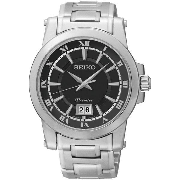 SEIKO Premier 紳士腕錶/6N76-00B0D/SUR015J1