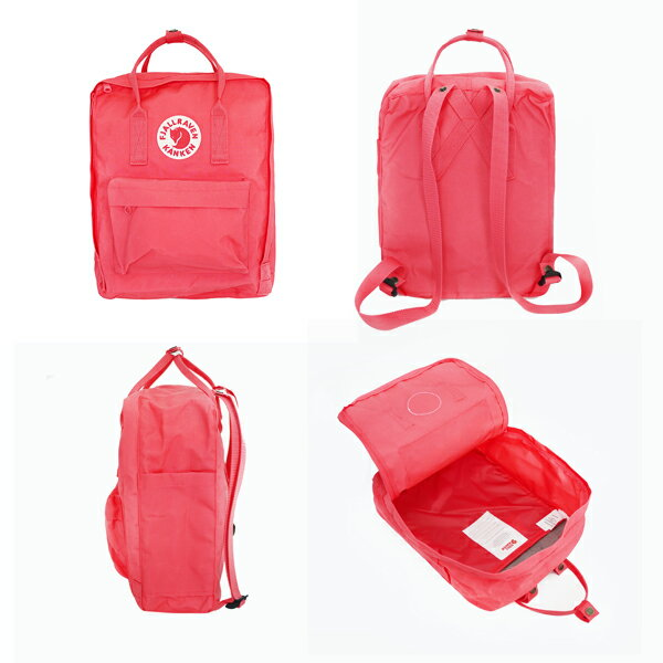 【Fjallraven Kanken 】K?nken Classic 550-326 Black & Ox Red 黑公牛紅 4