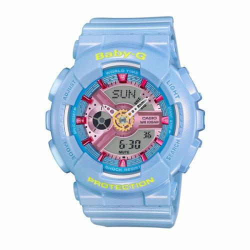 CASIO BABY~G 潮流 雙顯 女錶 粉嫩藍 BA~110CA~2ADR