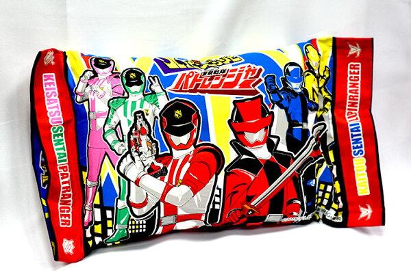 快盗戰隊VS警察戰隊兒童枕頭日本帶回東映正版商品