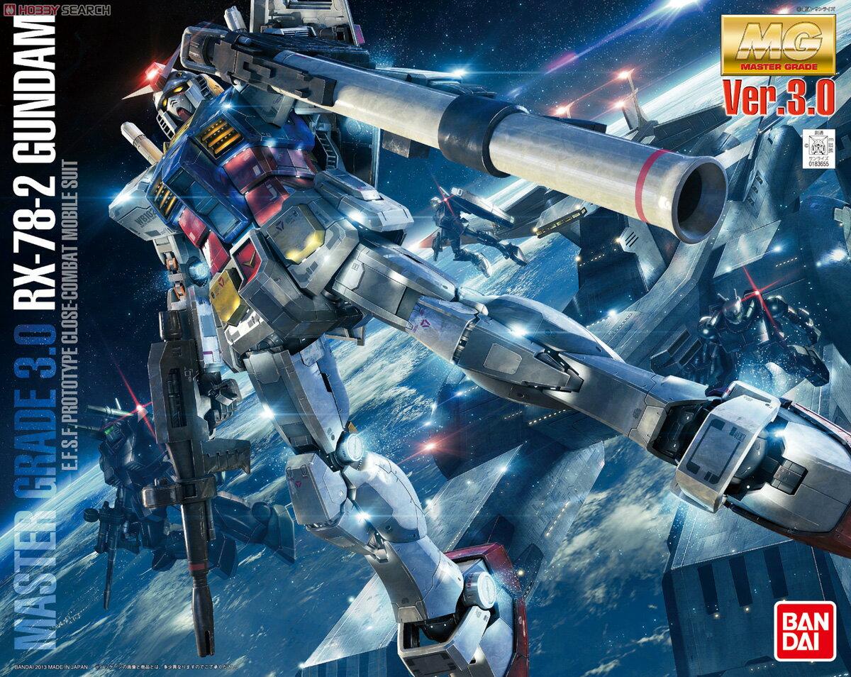 ◆時光殺手玩具館◆ 現貨 組裝模型 模型 鋼彈模型 BANDAI MG 1/100 機動戰士鋼彈 RX-78-2 Ver.3.0 初代鋼彈