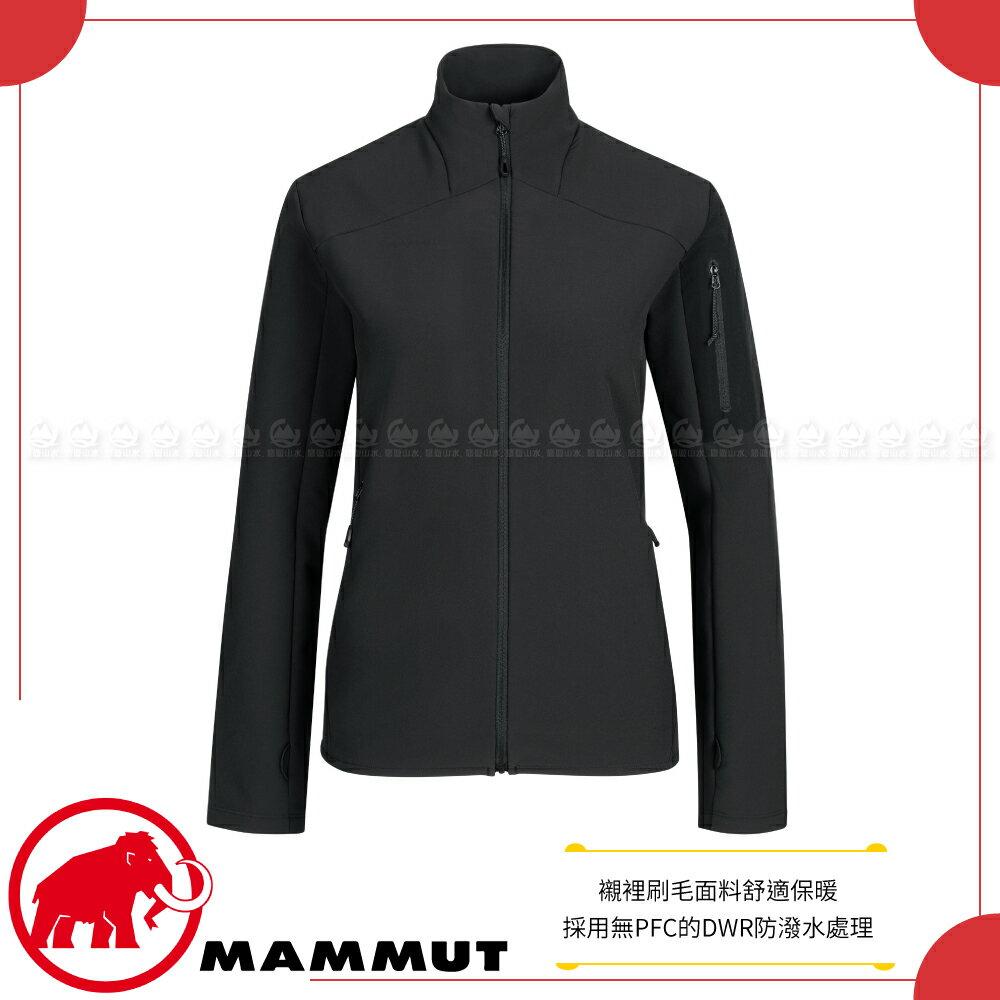 【MAMMUT 長毛象 女 Madris ML Jacket 中層防風保暖外套《黑》】1014-02430/中層衣