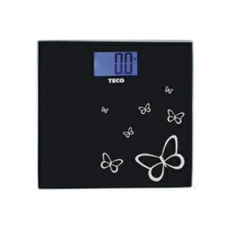 TECO 東元藍光時尚體重計 XYFWT486 黑色/可承受150KG/另有其他款式XYFWT482/XYFWT481