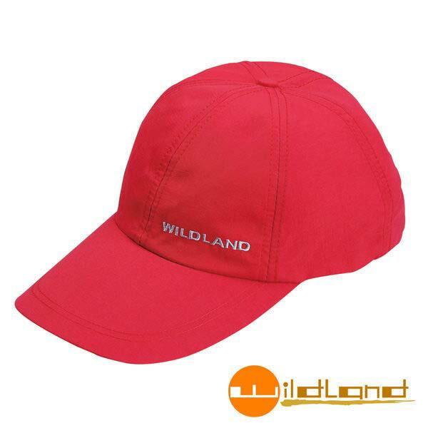 《台南悠活運動家》荒野W1013-17中性抗UV透氣棒球帽-嫣紅色