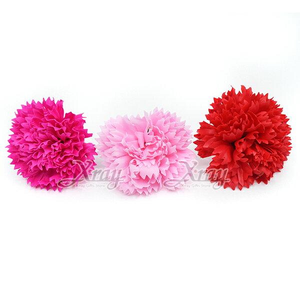 X射線【Y110037】香水康乃馨胸花(大)一個,春節過年人造花花材裝飾假花插花母親節