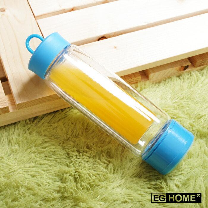 【EG Home 宜居家】MOOLI 魔立創意炫彩雙層不倒瓶/不倒杯(200ml)(附清潔刷)(4色任選)
