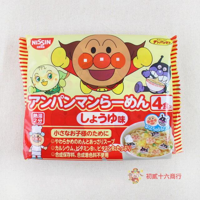 【0216零食會社】日本-日清4入麵包超人麵(醬油味)88g