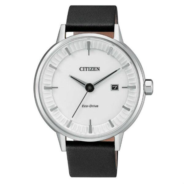 大高雄鐘錶城:CITIZEN星辰錶BM7370-11A現代簡約光動能腕錶白面42mm