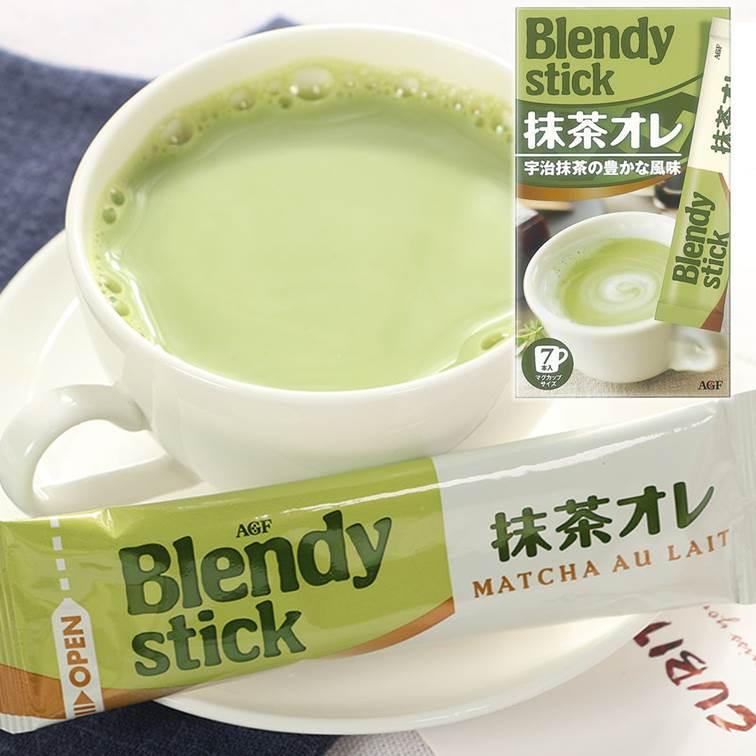 【AGF BlendyStick】即溶茶粉-抹茶歐蕾 沖泡粉7本入84g ????? ????? 抹茶?? 日本進口