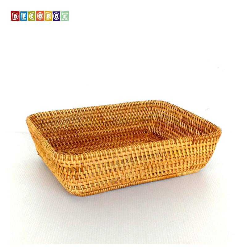 DecoBox藤編大長方茶點盤(茶道,藤編包) 2