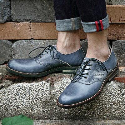 短靴真皮繫帶靴子-商務時尚休閒雕花男靴2色73kk93【獨家進口】【米蘭精品】