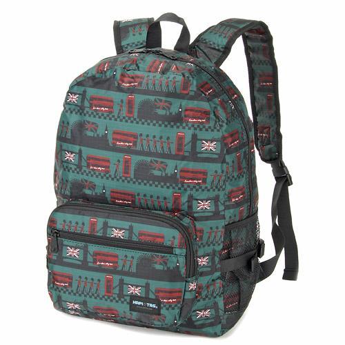 【百倉日本舖】日本進口HAPI+TAS折疊式後背包/旅行折疊背包 可套行李箱拉桿