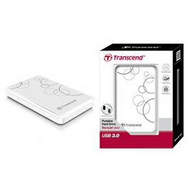 創見 Transcend 1TB USB3.0 StoreJet 25A3 隨身硬碟(白) 產品型號: TS1TSJ25A3W
