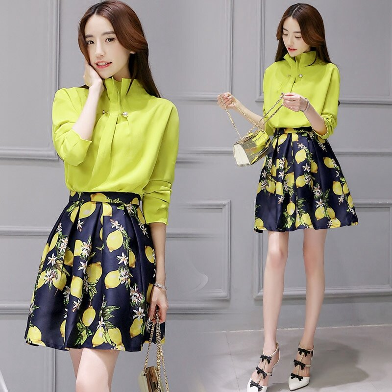 洋裝套裝【心齋橋】韓版新款兩件式長袖立領套裝連身裙洋裝FAN2167(現+預)