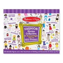 【 美國 Melissa & Doug 】貼紙簿 - 大型 - 紫色時尚