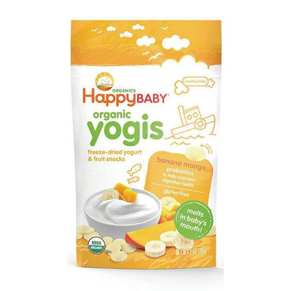 Happybaby 有機嬰兒優格餅(香蕉及芒果) 28g