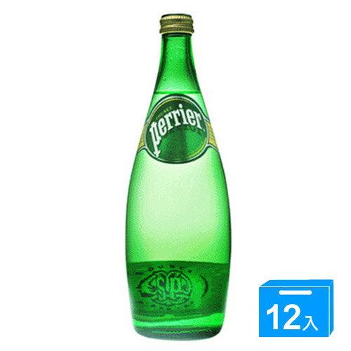 法國沛綠雅Perrier氣泡礦泉水750ml*12入(箱)【愛買】
