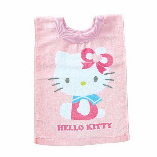 【真愛日本】12112800022 KT毛巾圍兜  三麗鷗 Hello Kitty 凱蒂貓 嬰兒用品 圍兜兜