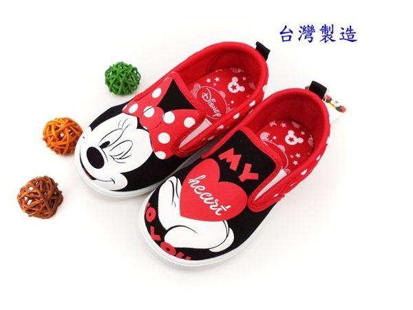 EMMA商城~兒童正版Disney迪士尼米妮紅色俏皮輕便休閒鞋室內鞋童鞋(16~20公分)紅色
