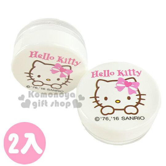 〔小禮堂〕Hello Kitty 乳液盒《2入組.10g.透明.白.大臉.愛心蝴蝶結》平日旅行皆適用