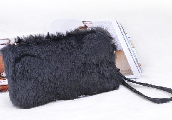Clutch Bag Faux Fur  Wallet 5
