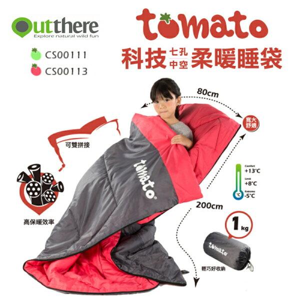 【露營趣】中和安坑好野OutthereCS00111CS00113tomato科技七孔8~13度中空柔暖睡袋纖維睡袋中空纖維輕巧可拼接全開